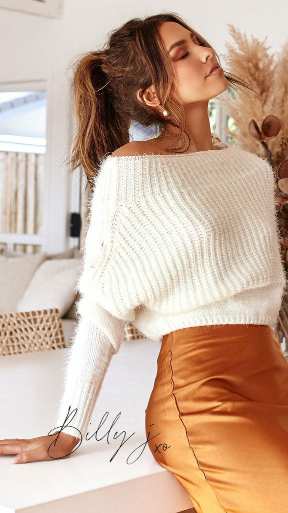 Gabby Cropped Knit - White