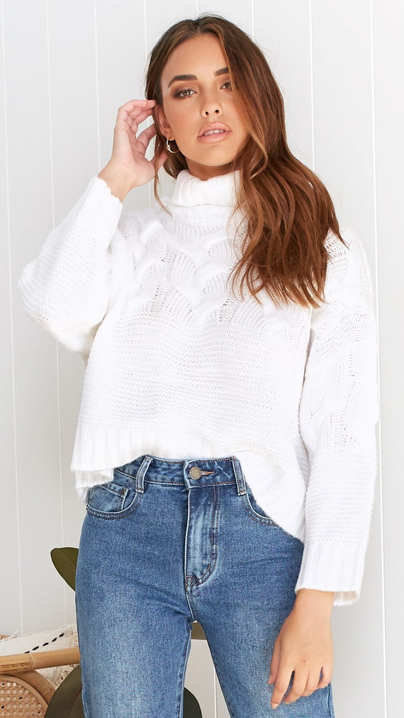 Landslide Knit - White