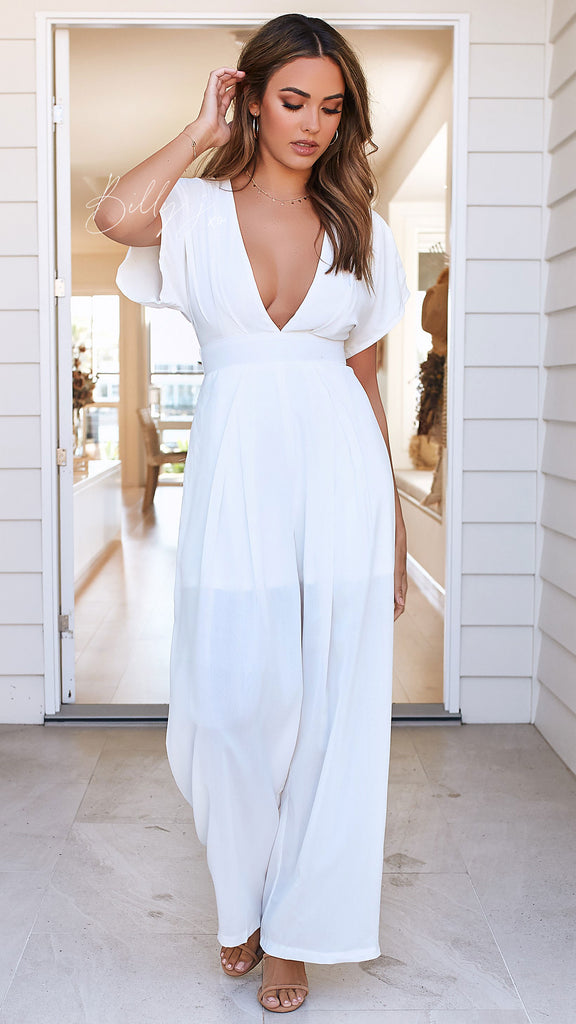Leona Jumpsuit - White