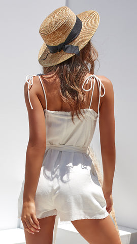 Evie Playsuit - White