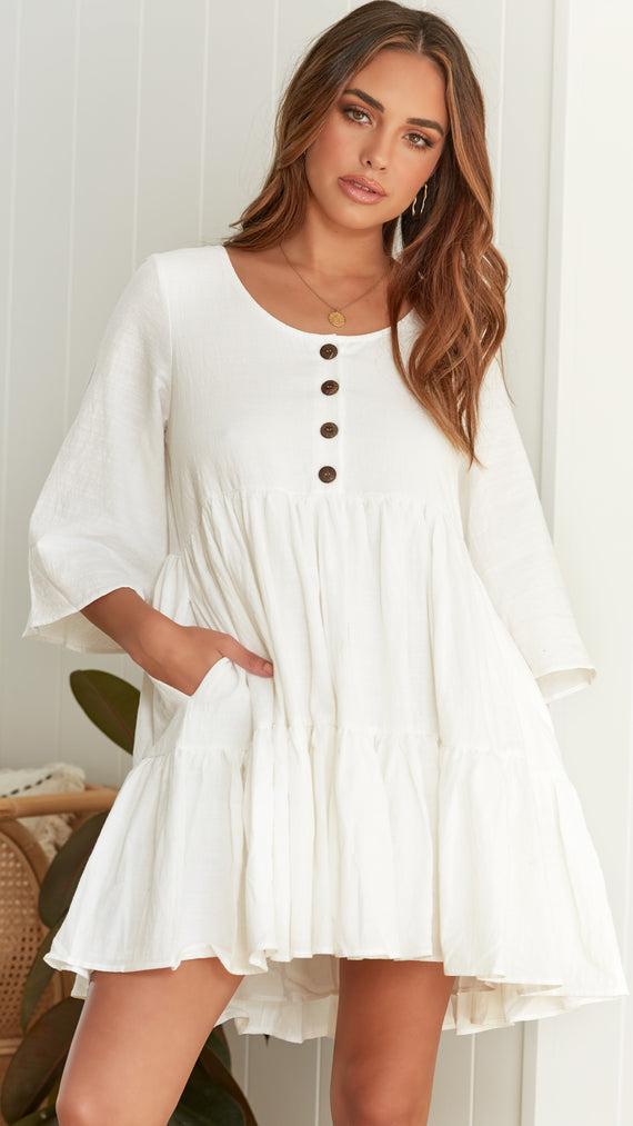 Tyra Dress - White