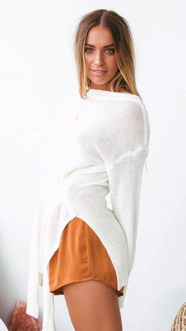 Monaco Knit Top - White