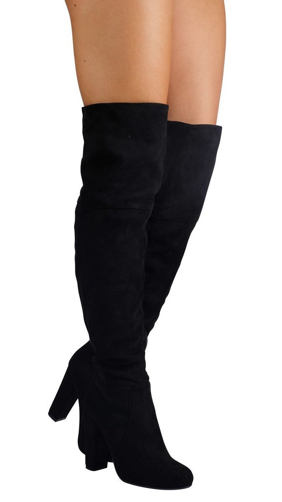Lara Boot - Black Suede
