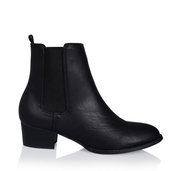 Richie Boots - Black Burnished