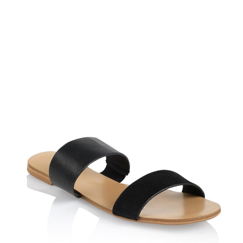 Mantel Sandal - Black Pony