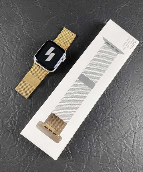 Gold Milanese Loop Band for Apple Watch with Packaging