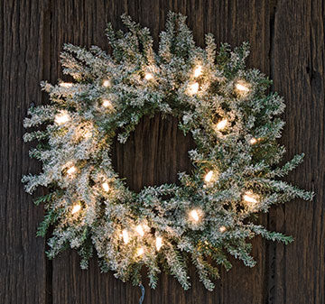 Frosted Lit Pine Wreath, 13