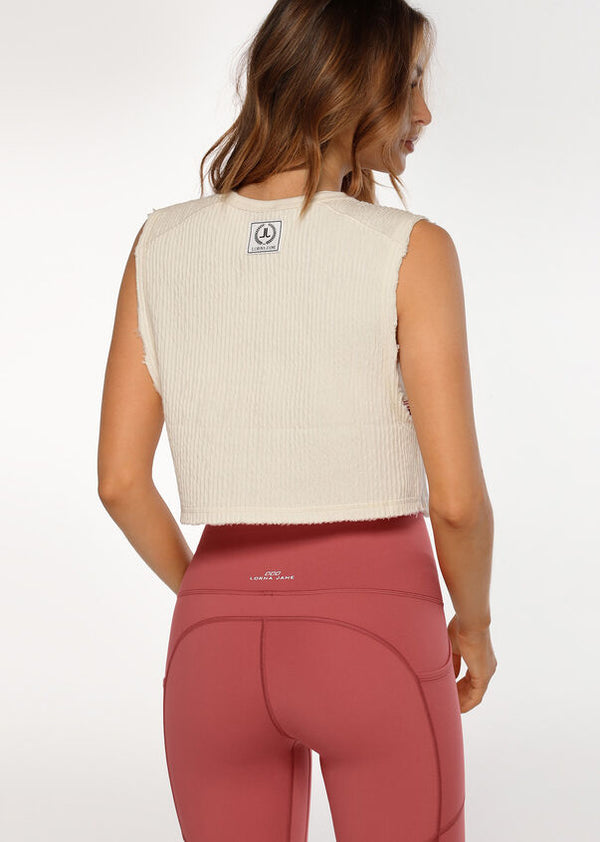 Luxe Textured Cropped Tank
