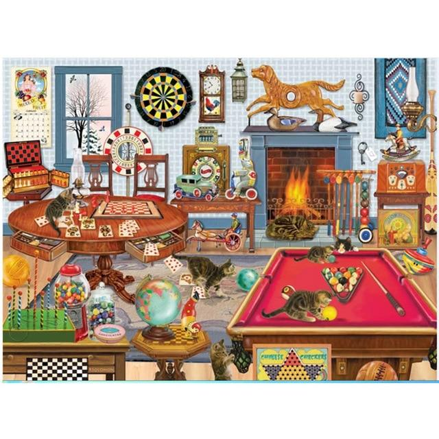 Hot Sale Puzzle 1000 Pieces Adult Puzzle Jigsaw, Cats and Kitties world - Puzzlemanic
