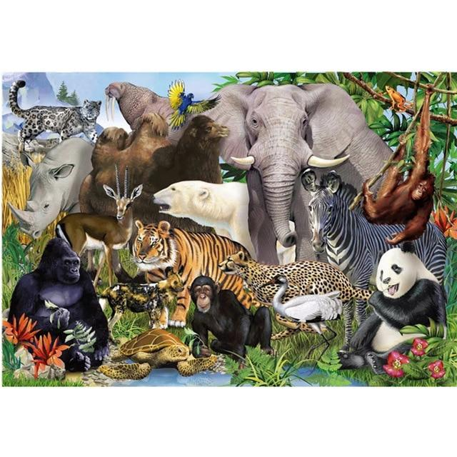 Hot Sale Puzzle 1000 Pieces Adult Puzzle Jigsaw, Animal World - Puzzlemanic