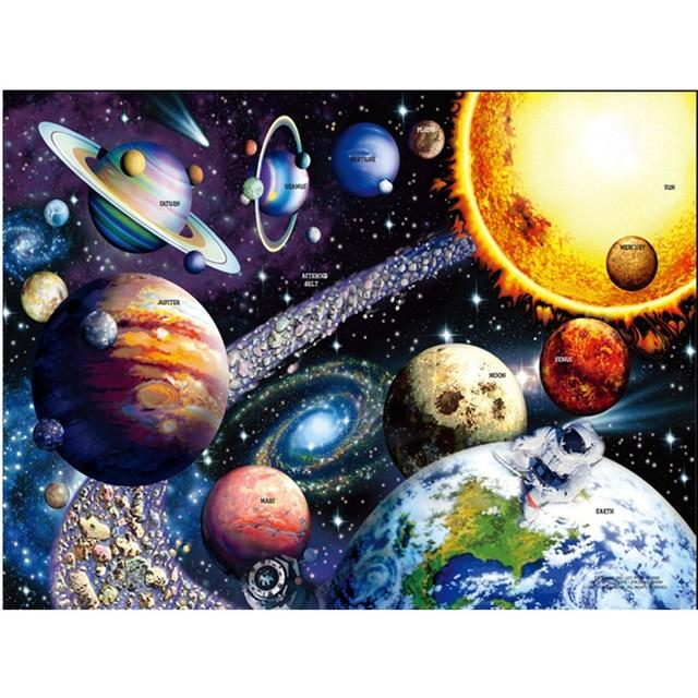 Hot Sale Puzzle 1000 Pieces Adult Puzzle Jigsaw, Planets of Solar System - Puzzlemanic