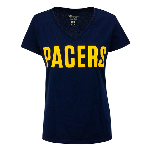 Woman's Pacers Print V-neck T-Shirt