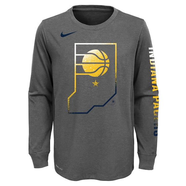 Youth Indiana Pacers Mezzo Logo Long Sleeve T-Shirt