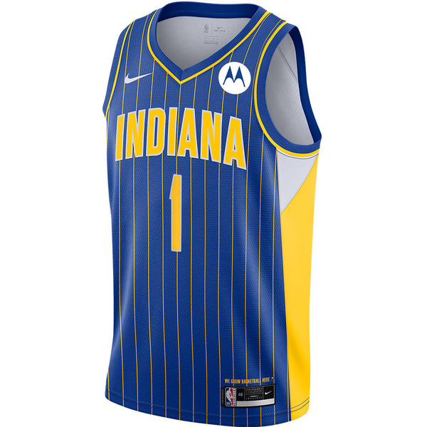 Indiana Pacers T.J. Warren 20-21 City Edition Swingman Jersey