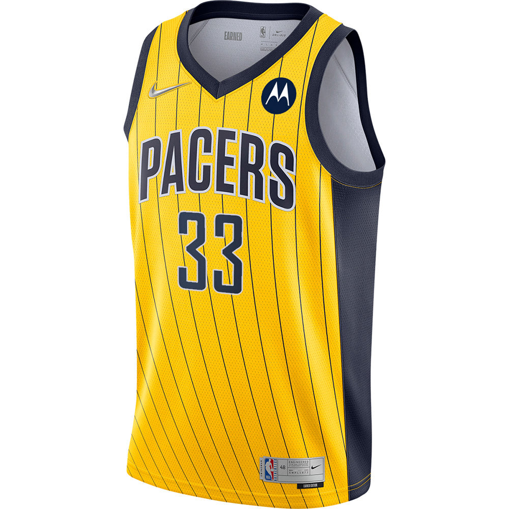 Indiana Pacers Myles Turner 20-21 Earned Edition Swingman Jersey