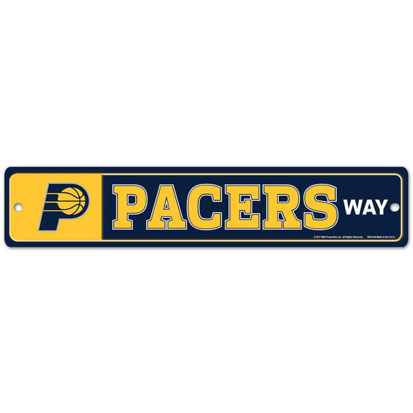 Indiana Pacers Street Zone Sign