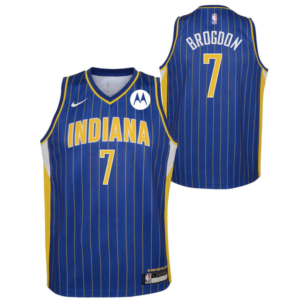Youth Indiana Pacers Malcolm Brogdon 20-21 City Edition Swingman Jersey