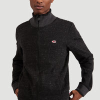 2-Knit Full Zip Cardigan | Black Out