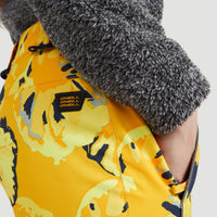Charm All Over Print Snow Pants | Yellow With Brown