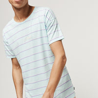 Striped Wow T-Shirt | Green With