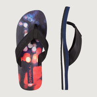 Imprint Pattern Sandals | Blue With Pink or Purple