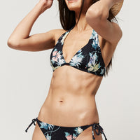 Sao Mix Bikini Top | Black With Green