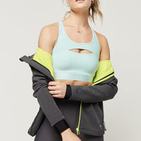 Hybrid Medium Impact Sports Bra | Water