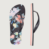 Mix & Match Print Sandals | Black With Green