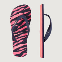 Moya Printed Sandals | Blue With Pink or Purple
