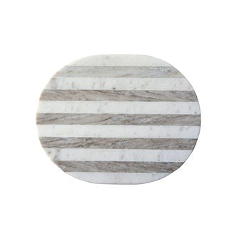 "Marble Cheese/Cutting Board, Grey & White Stripe. Measurements: 15""L x 12""W"