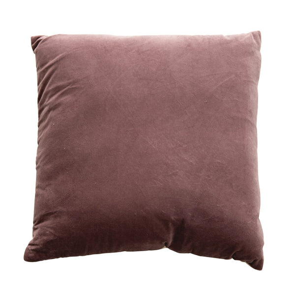 "20"" Square Cotton Velvet Pillow, Lavender Color"