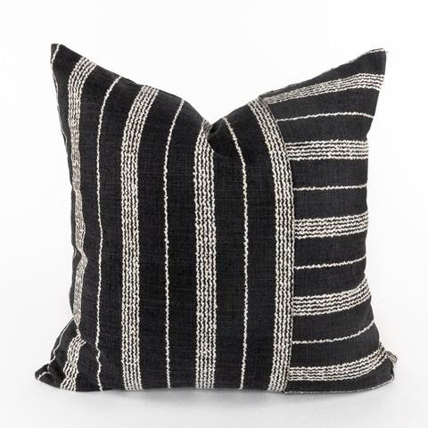 Black and white stripe throw pillow. 20x20 inch