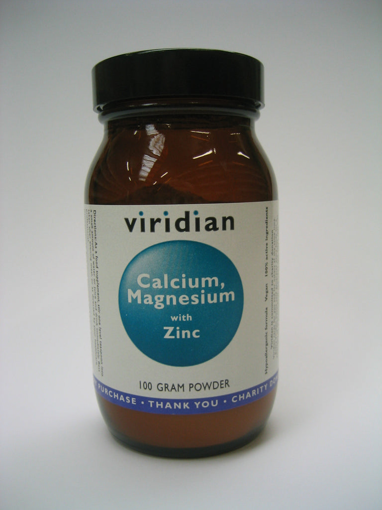 Viridian Calcium, Magnesium and Zinc, 100g Powder