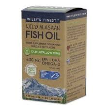 Wiley's finest Wild alaskan fish oil 450mg size - 60 capsules