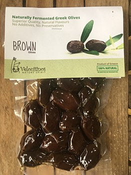 Organic brown olives 180g
