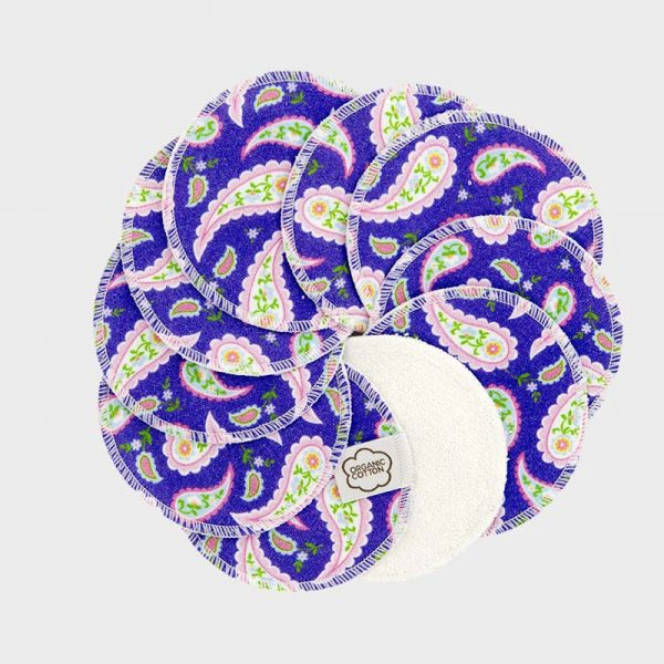 ImseVimse washable cleansing pads pack of 10 purple paisley
