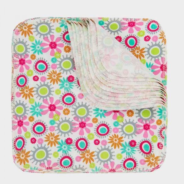 ImseVimse washable baby wipes Flowers pattern