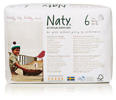 Naty Size 6 Eco Disposable Pull-on Pants - 18 pieces