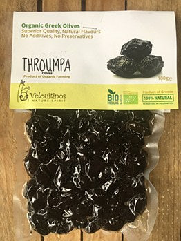 Organic Throumpa olives 180g