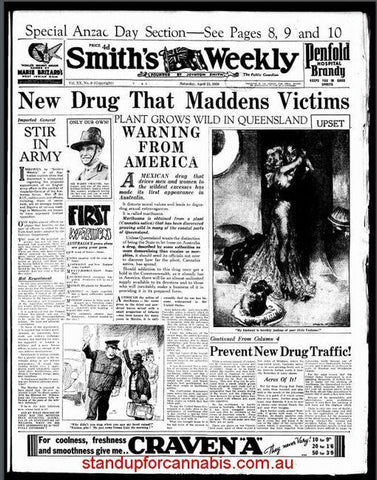 """Smith's Weekly """"New Drug That Maddens Victims"""""""