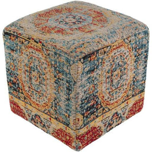 "Amsterdam AMPF-001 18"" x 18"" x 18"" Pouf - Rays Carpet One Floor & Home"