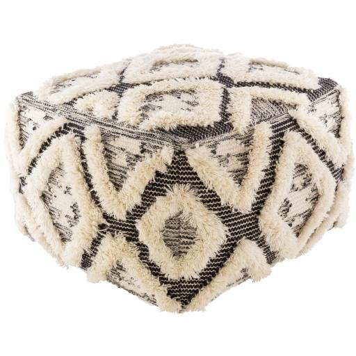 "Apache APPF-001 22"" x 22"" x 14"" Pouf - Rays Carpet One Floor & Home"