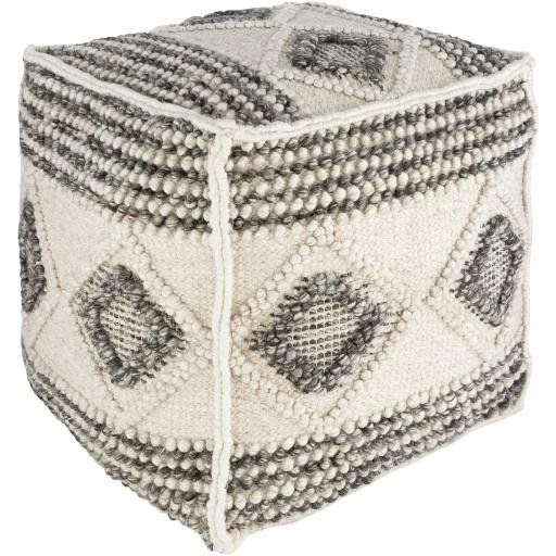 "Hygge HGPF-001 18"" x 18"" x 18"" Pouf - Rays Carpet One Floor & Home"