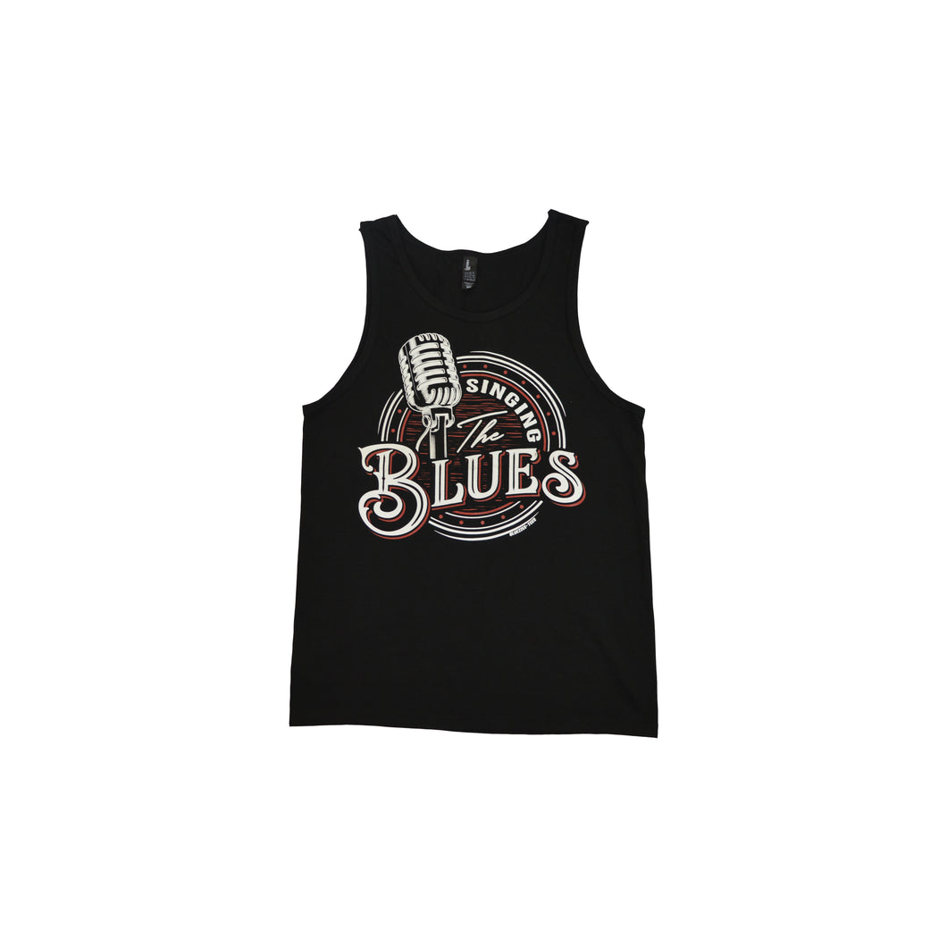 Men's Singing The Blues Black Tank Top