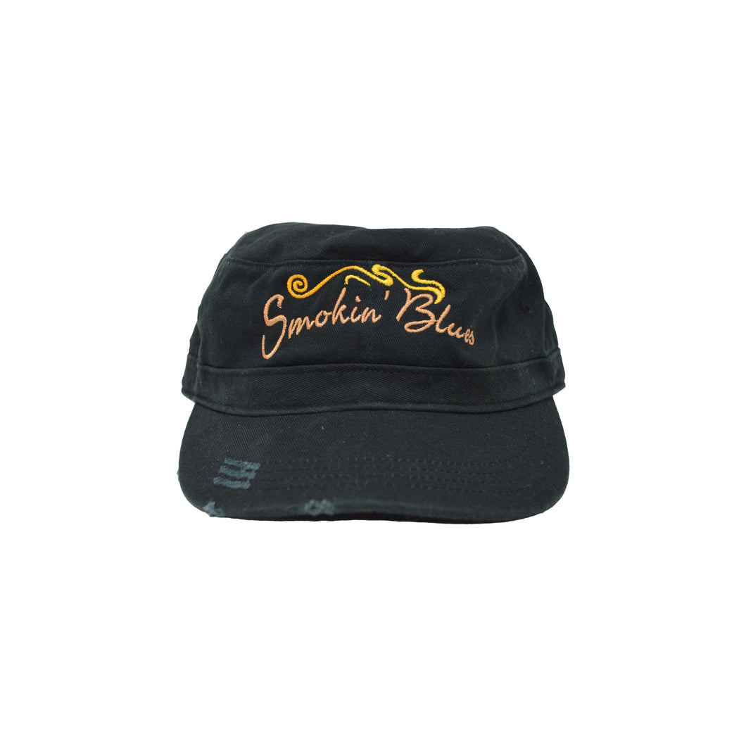 Black Smokin' Blues Hat/Military Style