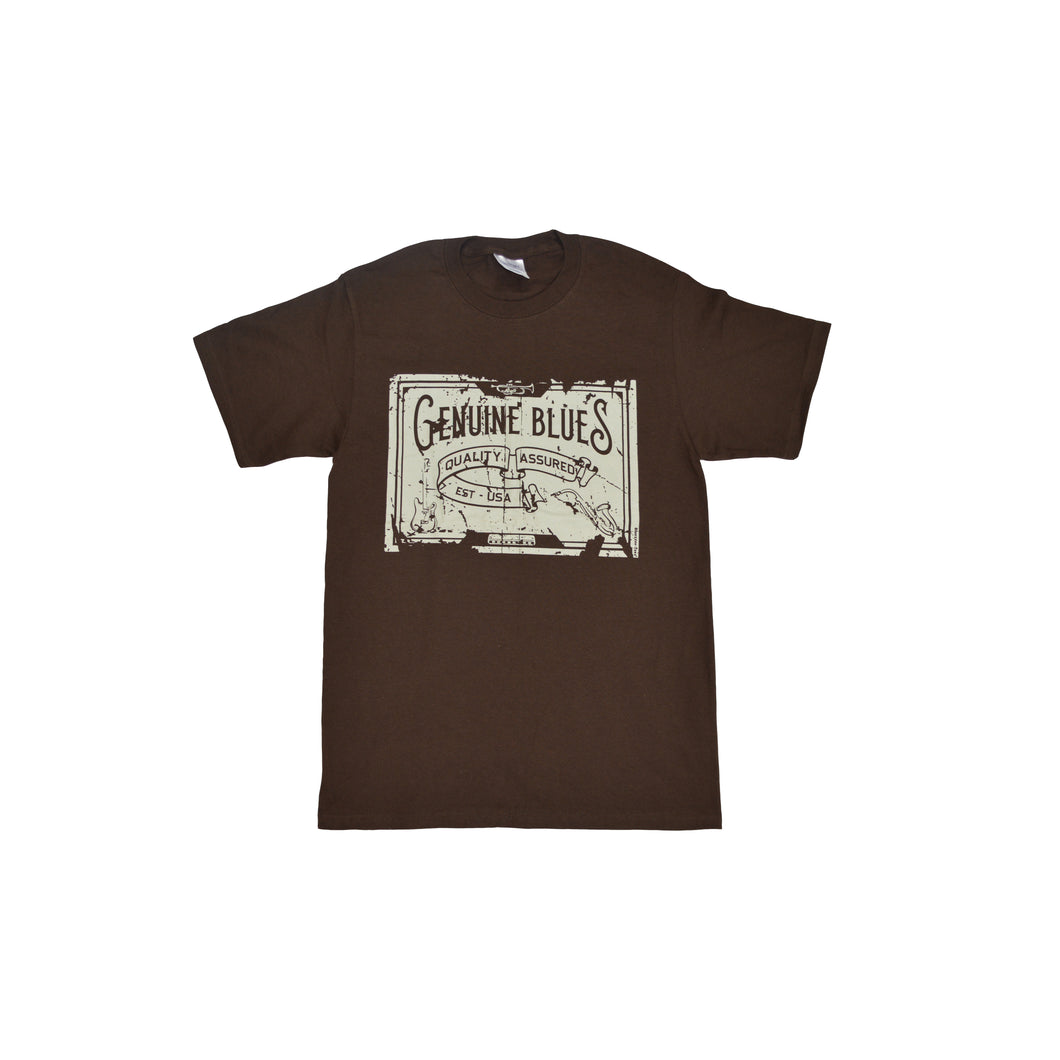 Men's Genuine Blues/Old Style Dark Brown T Shirt