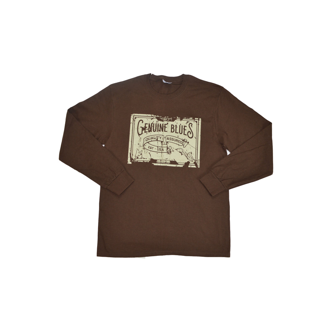 Men's Genuine Blues/Old Style Brown Long Sleeve Shirt