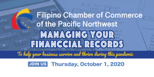 2020 Fall Workshop 1: Managing Your Financial Records | Thursday, October 1st