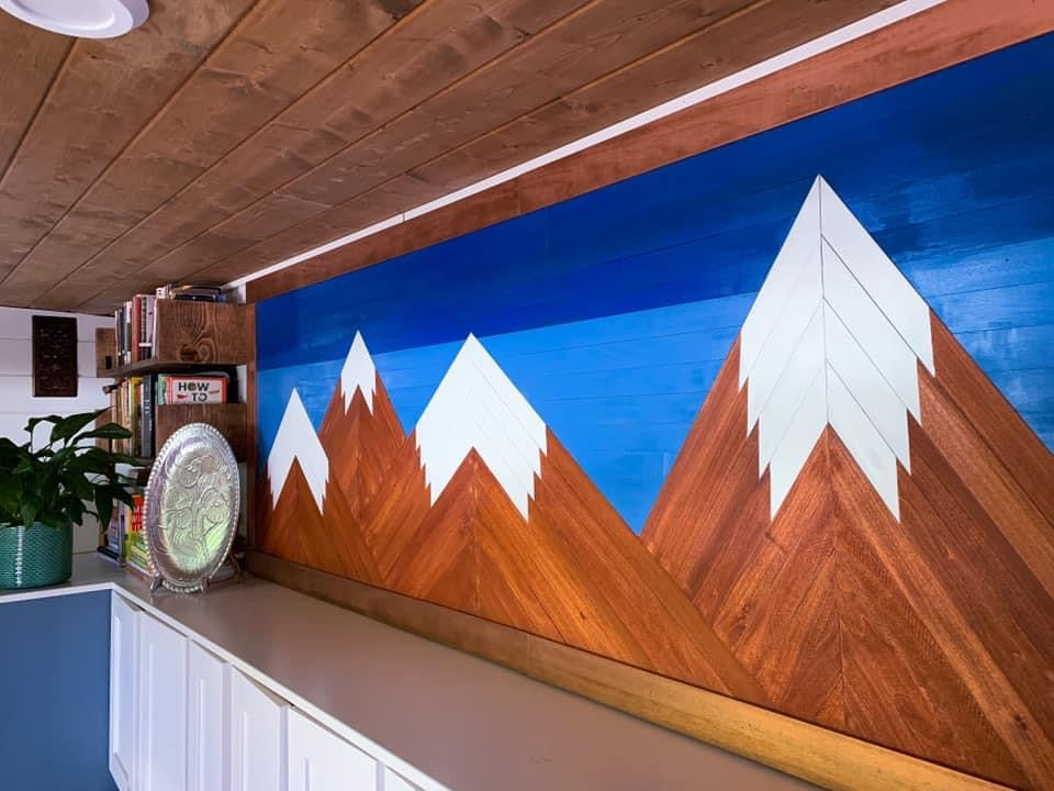 tiny house wall mounted mountains