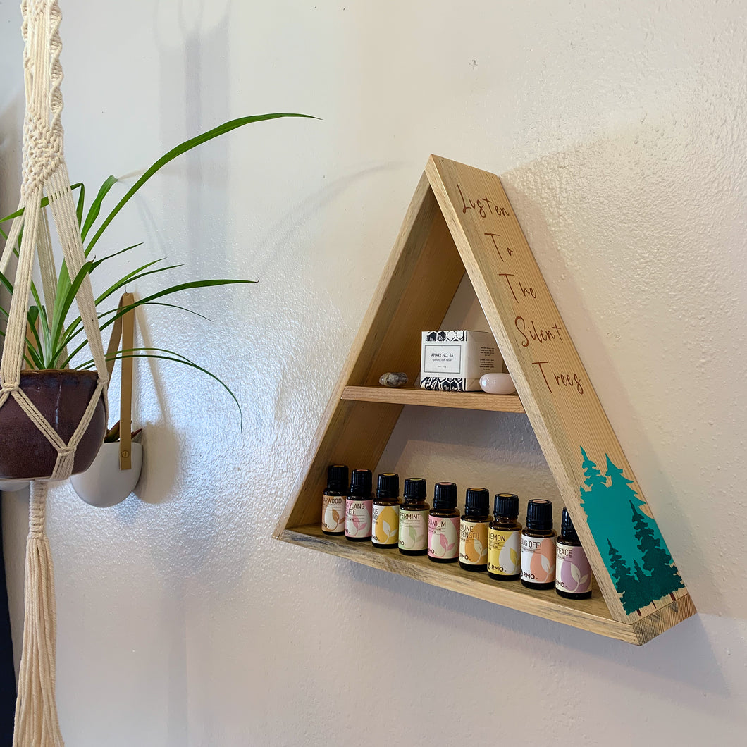 Listen to the Silent Trees Triangle Shelf